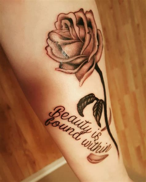 couple rose tattoo finally got my beauty and the beast tattoo so in love