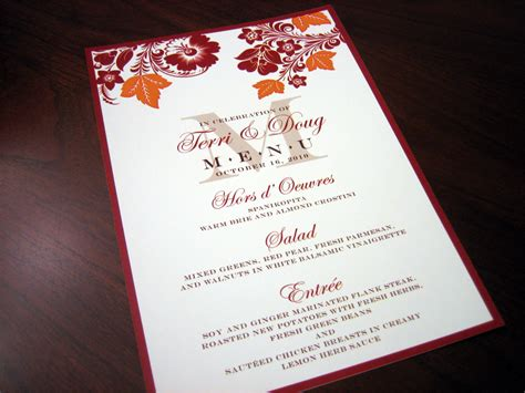 menu cards page 2 a vibrant wedding