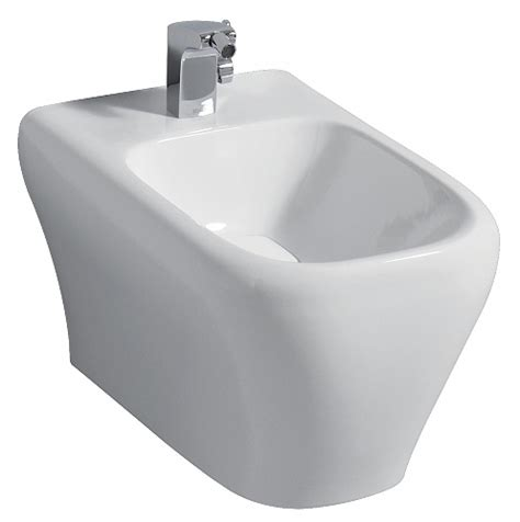 keramag bidet myday bidet wall hung incl cover cap white chrome