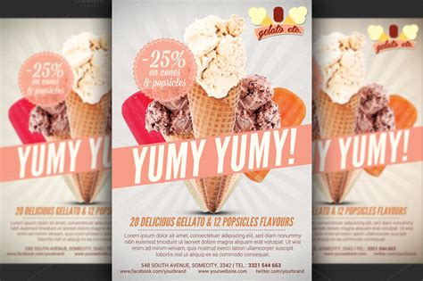 flyer design offer ice cream shop offer flyer template flyer templates on