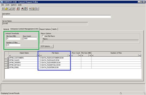 format file ecm mask archived and extracted data directly into csv xml