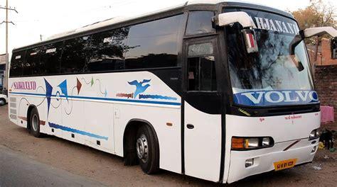 volvo bus  hire  rental service ahmedabad sahjanand tours