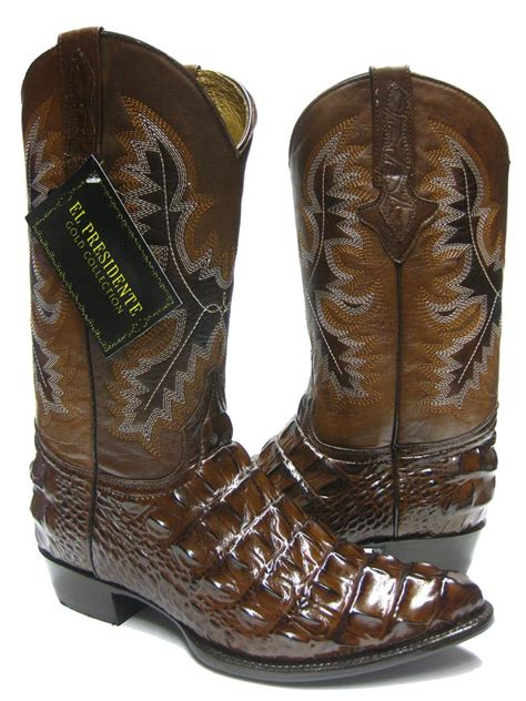 crocodile boots for sale s brown alligator crocodile back cut cowboy boots
