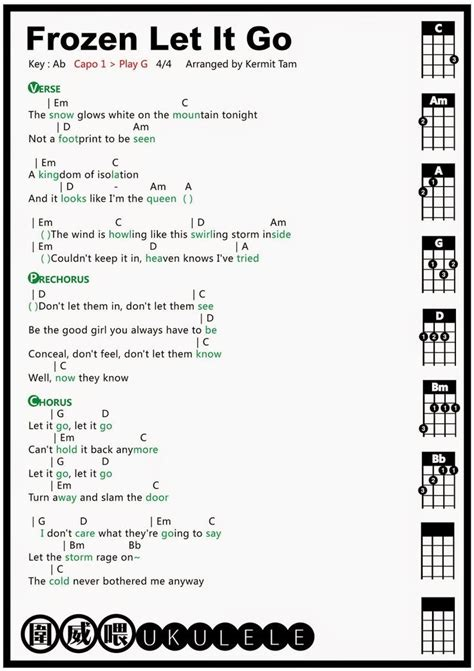 Letter Ukulele Chords 25 Best Ideas About Let It Go Chords On Let It Go Piano With Letters And