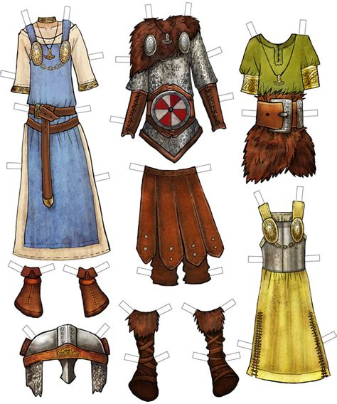 printable viking paper dolls welcome to dover publications