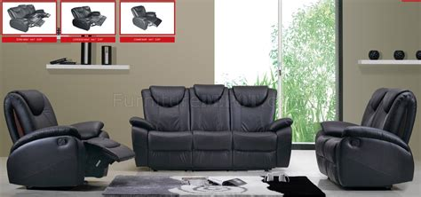 Black Leather Living Room by Black Leather Living Room With Recliner Seats