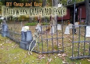Halloween Decorations Graveyard Diy Halloween Graveyard Spooky Cheap Amp Easy Saving