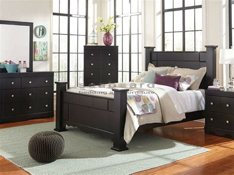 queen poster bedroom set kith 495 karson black poster queen 6pc bedroom set