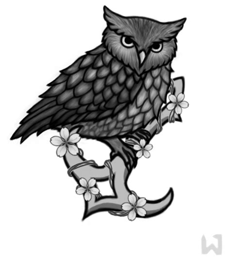 evil owl tattoo clipart best