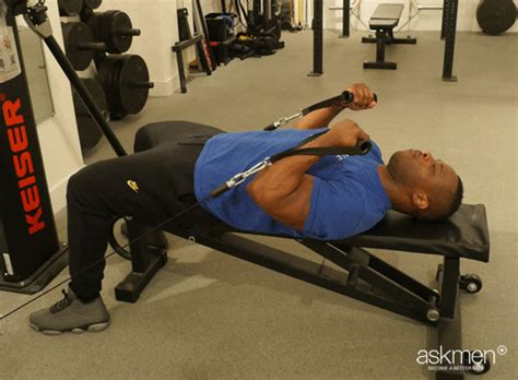 supine bench press supine cable biceps curl the guide to a bigger bench