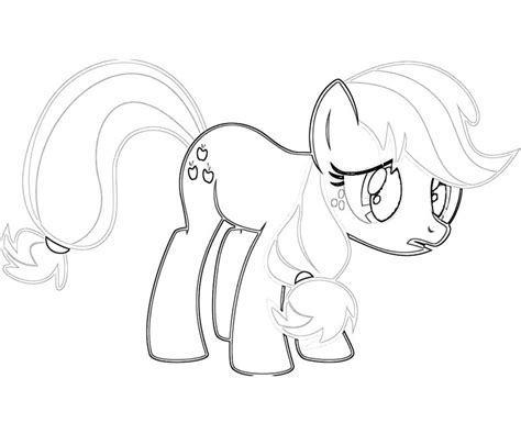 applejack coloring page coloring home