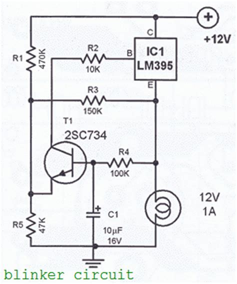 led blinker circuit diagram blinker circuit