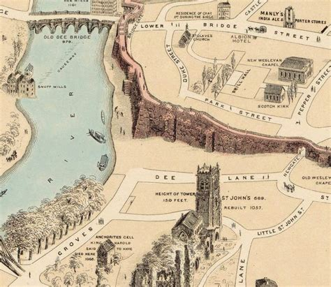 ancient world cities map map of chester ancient city gales uk 1900 maps
