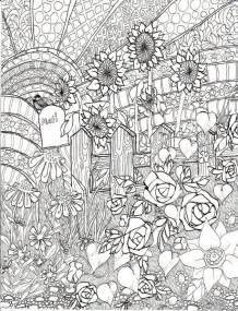 coloring therapy for adults ausmalen erwachsene sommer sonnenblumen 2