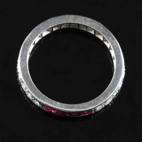 ruby eternity ring 18 carat white gold cut