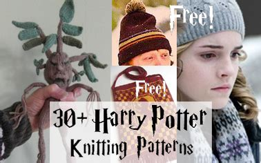 harry potter knitting patterns science fiction in the loop knitting