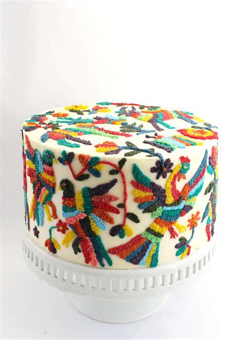 embroidery mexican otomi embroidery cake alana jones mann