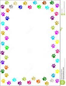 colourful paw prints border stock photos image 33717673