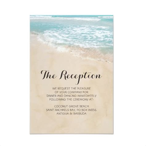 Reception Card Template Psd 14 wedding reception card designs templates psd ai