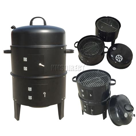 Barbecue Charcoal Grill by Foxhunter Black Bbq Charcoal Grill Barbecue Smoker Garden