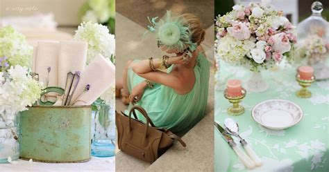 mint green themes wedding trend 2013 on