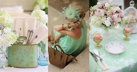 2013 weddings trends 1 mint color everywhere weddings