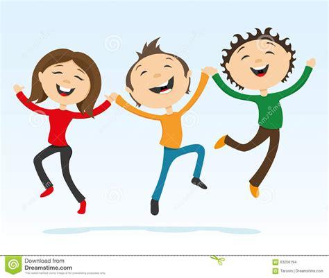 clipart amicizia amici felici si tengono per mano in un salto