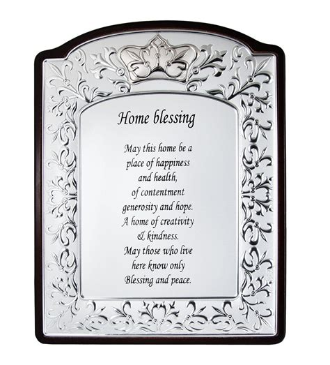 new home blessing silver and wood ornate house blessing