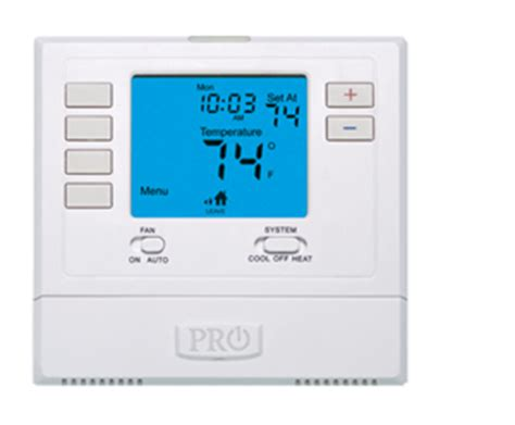 swing setting on thermostat pro1 iaq t705 digital programmable thermostat