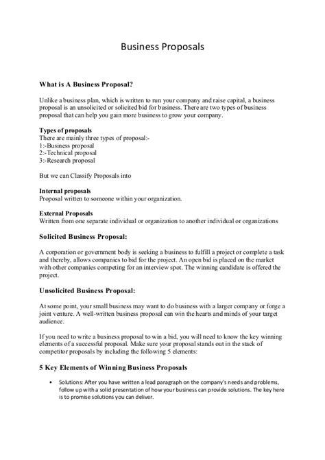 business proposals business proposals