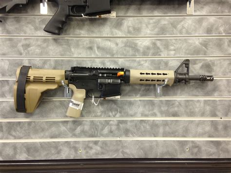 ar15 pistol fde with sig sauer sb15 pistol brace and noveske kx3 pig new sig sauer m400 b5 pistol 5 56 223 in on 4 10 2014