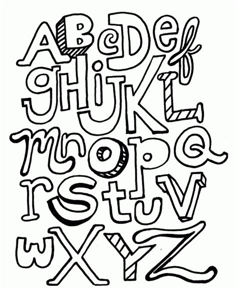 free printable alphabet coloring pages a z az coloring pages