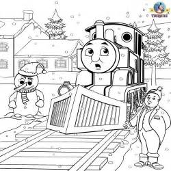 tank engine winter coloring printable colouring pages for winter