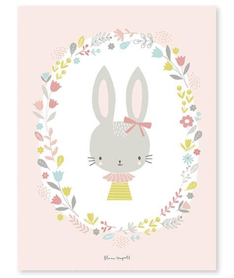 affiches chambre enfant affiche b 233 b 233 enfant lapin fille