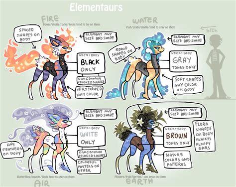 elementaurs open species by griffsnuff on deviantart