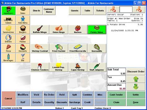 Kitchen Design Software Free Online aldelo for restaurants pro edition pos software best