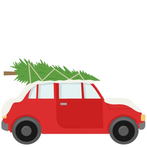 car with christmas tree svg scrapbook cut file cute