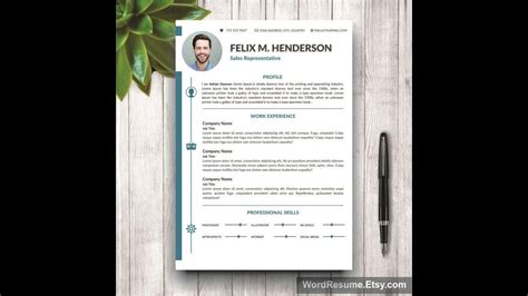 resume template cover letter portfolio ms word