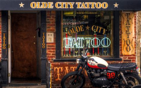 tattoo shop rocketgarage cafe racer magazine