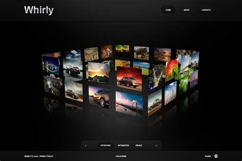 image gallery template html photographer portfolio flash cms template 33111