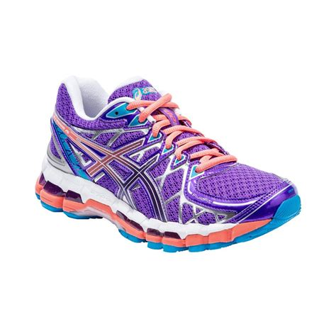 womens asics sneakers asics gel kayano 20 womens running shoes purple coral