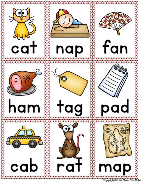 Free Printable Cvc Words With Pictures