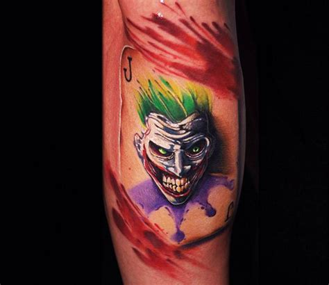 joker card tattoo by ben ochoa photo no 16916