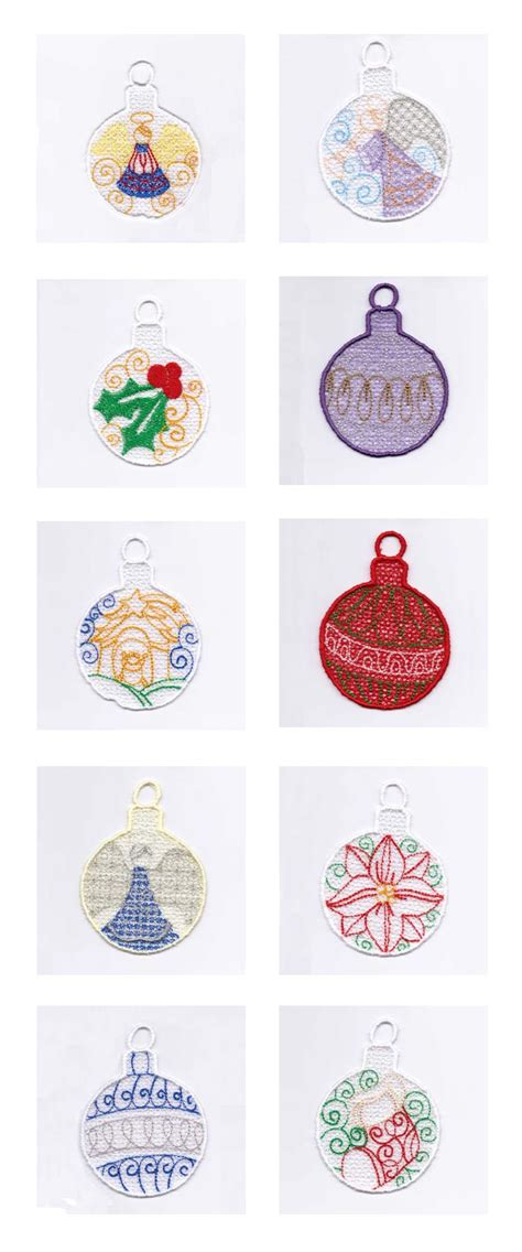 embroidery ornaments embroidery machine designs ornaments set