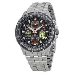 citizen skyhawk a t stainless steel chronograph atomic