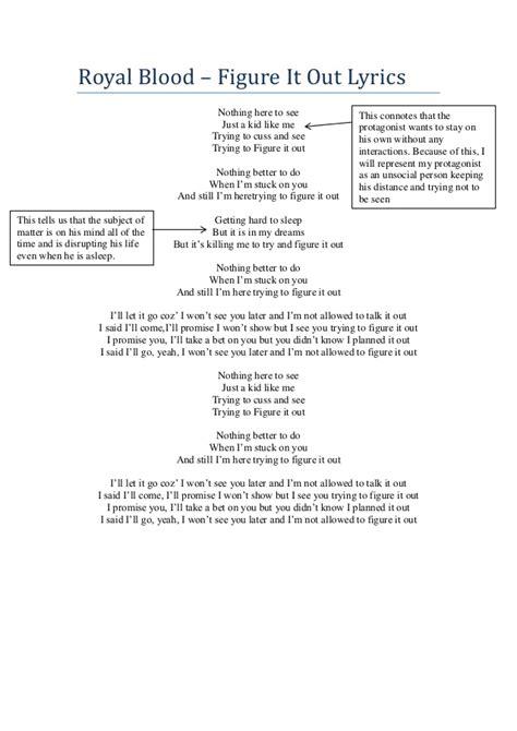 figure lyrics royal blood figure it out