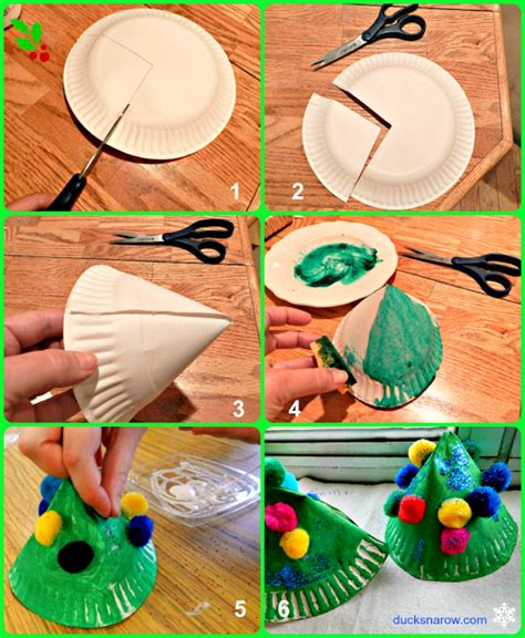 how to make kids christmas ornaments step by step paper plate tree craft for ducks n a row