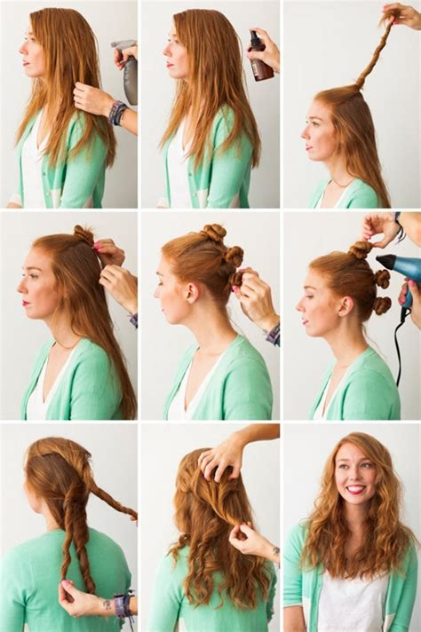 easy and quick down hairstyles quick and easy 5 diy hairstyles for lazy mornings
