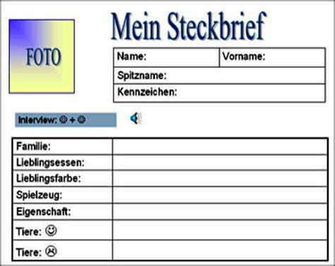 Vorlage Word Steckbrief Aktivit 228 Ten Activit 233 S Pour Des Classes Partenaires An Grundschulen