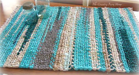 make rag rug loom the country farm home denim rag rug on the farmhouse table